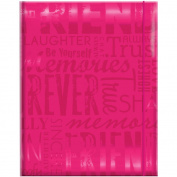 MBI 823100-361 Embossed Gloss Expressions Photo Album 100 Pkt 4-3-10cm . x 6-1-5.1cm .-Friends - Hot Pink