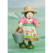Le Toy Van BK930 New Budkins Bendy Wooden Farmers Wife Doll