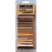 General Pencil 130356 Generals Multi Pastel Compressed Chalk Sticks 12-Pkg-Earth-Portrait-Skin Tones