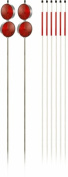 DLS Lawn & Garden- Venture Products - 10433 Assortment of 8 Driveway Markers - Red reflectors