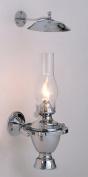 Weems & Plath 918 Chrome Atlantic Gimbal Lamp with Smoke Bell