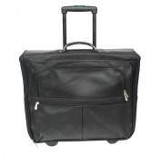 Piel 2019-BLK Black Garment Bag On Wheels