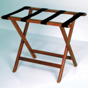 Wooden Mallet LR-MHBLK Deluxe Straight Leg Luggage Rack in Mahogany with Black