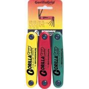 Bondhus 12533 Gorilla Grip Fold-Up Triple Pack