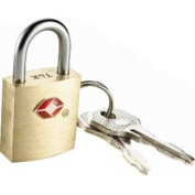 Travel Smart By Conair TS2A01TS Small Brass Padlock - 2 Pack