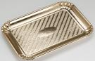 Pedrini 3 Rectangular Golden Cardboard Trays - 24 x 33cm