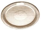 Pedrini 3 Round Golden Cardboard Trays - 30cm
