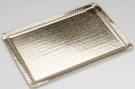 Pedrini 2 Rectangular Golden Cardboard Trays - 25 x 35cm