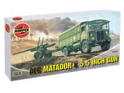 AEC Matador & 14cm Gun - 1:76 Scale - A01314 - Airfix