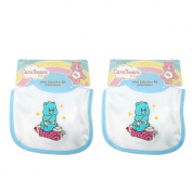 IDM Group 169731 Care Bears Baby Embroidery Blue Bib - 2 Pack