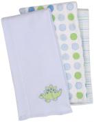 SpaSilk Baby-Boys Newborn 3 Pack Dino Burp Cloth