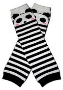 "PANDA STRIPES - Baby Leggings/Leggies/Leg Warmers for Cloth Nappies - Little Girls & Boys & ONE SIZE by ""BubuBibi"""