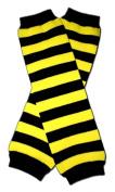 "BLACK & YELLOW STRIPES (BEE) - Baby Leggings/Leggies/Leg Warmers for Cloth Nappies - Little Girls & Boys & ONE SIZE by ""BubuBibi"""