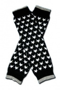 BLACK WITH WHITE STARS Baby Leggings/Leggies/Leg Warmers for Cloth Nappies - UNISEX & ONE SIZE by BubuBibi