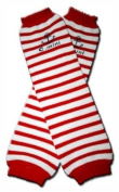 RED WITH WHITE STRIPES Baby Leggings/Leggies/Leg Warmers for Cloth Nappies - UNISEX & ONE SIZE