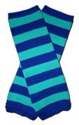 "BLUE & GREEN STRIPES - Baby Leggings/Leggies/Leg Warmers for Cloth Nappies - Little Girls & Boys & ONE SIZE by ""BubuBibi"""