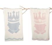 Barefoot Dreams Little Royals Receiving Blanket