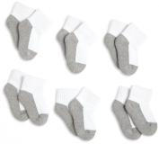 Jefferies Socks, Llc Unisex-baby Newborn 6 Pack Seamless Sport Half Cushion Quarter Socks