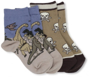 Country Kids Baby-boys Infant Triassic Skull 2 Pair Socks