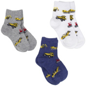 Country Kids Baby-boys Infant Bulldozer 3 Pair Socks
