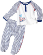 Absorba Baby-Boys Newborn 2-Piece Bear Buddies Footed Pant Set