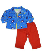 SnoPea - Newborn And Infant Boys Long Sleeve Pant Set, Blue, Red 25814