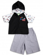 Snopea - Newborn and Infant Boys Roller Champ Hoodie Pant Set