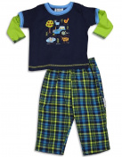 Mis Tee V-Us - Infant Boys Long Sleeve Farm Animals Pant Set