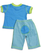 Cloud Mine - Newborn And Infant Boys Short Sleeve Dog Pant Set