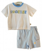 "Organic Cotton Boys ""Protect Recycling"" Toddler 2 Piece Set by Organically Grown"