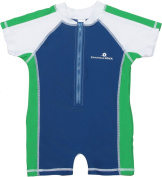 Boys Infant SS One Piece Sun Suit by Sanpper Rock - Marine Blue/Green