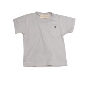 Go Gently Baby Organic Circle Pocket Tee in Pumice