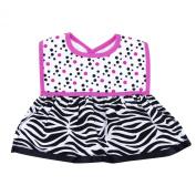 Trend Lab Dress Up Bib, Zahara Zebra