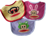 Small Paul by Paul Frank 0-12 Months Bib Set, 3 Pack