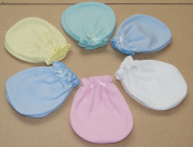 6 Pairs Cotton Newborn Baby/infant Mix Colour No Scratch Mittens Gloves 0-6 Months