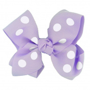 The Trendy Turtle 11cm Large Grosgrain Ribbon Interchangeable Boutique Tied Hairbow on Alligator Clip - Use as Hair Bow, Attach to Beanie or Headband - for Babies to Toddlers to Youth Girls