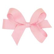 Wee Ones® Tiny Classic Grosgrain Hair Bow w/Plain Wrap Centre - Antique White