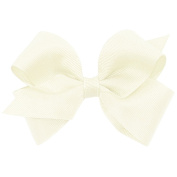 Wee Ones® Small Classic Grosgrain Hair Bow w/Plain Wrap Centre - Antique White