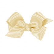 Wee Ones® Mini Classic French Satin Hair Bow w/Knot Wrap Centre - Ecru