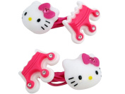 Hello Kitty Crown Rubber Hair Band 2pc Set