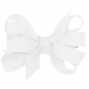 Wee Ones® Baby Classic Grosgrain Double Hair Bow w/Knot Wrap Centre - Black