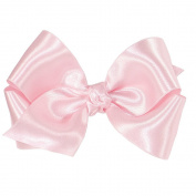 Wee Ones® Small Classic French Satin Hair Bow w/Knot Wrap Centre - Ecru
