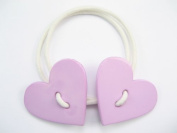 Sweet Hearts - Baby Girl & Toddler Hair Band / Ponytail Holder - Red, Pink & Purple
