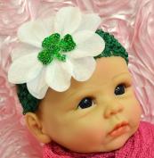 Funny Girl St. Patrick's Day Shamrock Baby Headband - Irish Pride Baby Headband