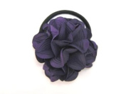 Leather Blossom - Flower Baby Girl & Toddler Hair Band / Ponytail Holder - Red, Pink, Yellow & Blue