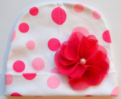Funny Girl - Pearl & Chiffon Flower Cotton Baby Hat