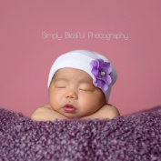 Melondipity's Sweet Violet Newborn Hospital Hat - Authentic Hospital Grade Hat - Hospital Stay