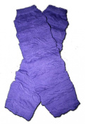 "PURPLE RUFFLES - Baby Leggings/Leggies/Leg Warmers for Cloth Nappies - Little Girls & Boys & ONE SIZE by ""BubuBibi"""
