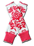 """PINK & WHITE DAMASK Baby Sweet Leggings/Leggies/Leg Warmers for Cloth Nappies - Little Girls & ONE SIZE by """"BubuBibi"""""""