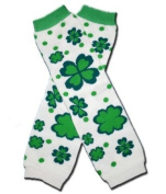 """FLOWERY SHAMROCK ST PATRICK DAY - Baby Leggings/Leggies/Leg Warmers for Cloth Nappies - GIRLS OR BOYS & ONE SIZE by """"BubuBibi"""""""